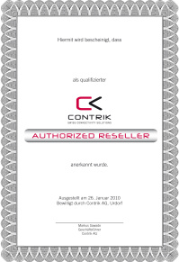 Contrik Authorized Reseller