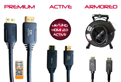 HDMI Kabel Premium, Active and Armored Series