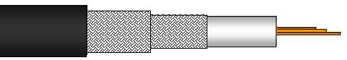 koaxialkabel 0 8l 3 7 dz pvc contrik. Black Bedroom Furniture Sets. Home Design Ideas